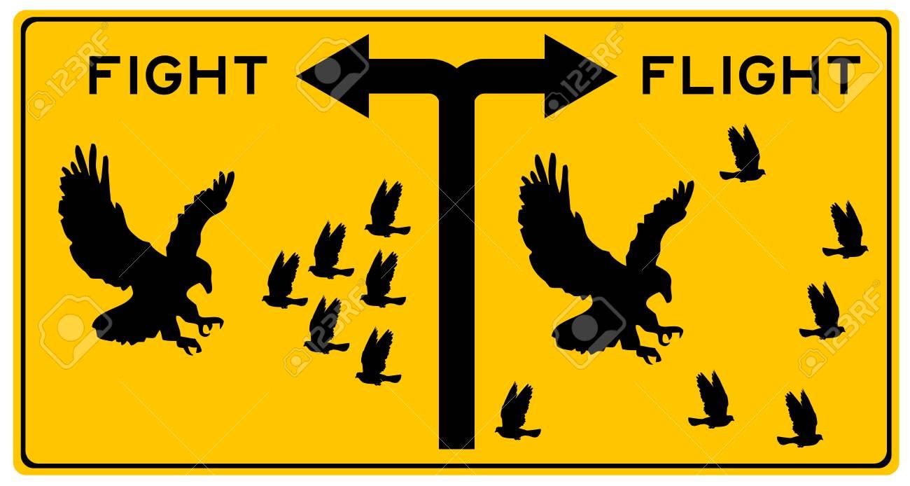 fight or flight illustration - 111707795