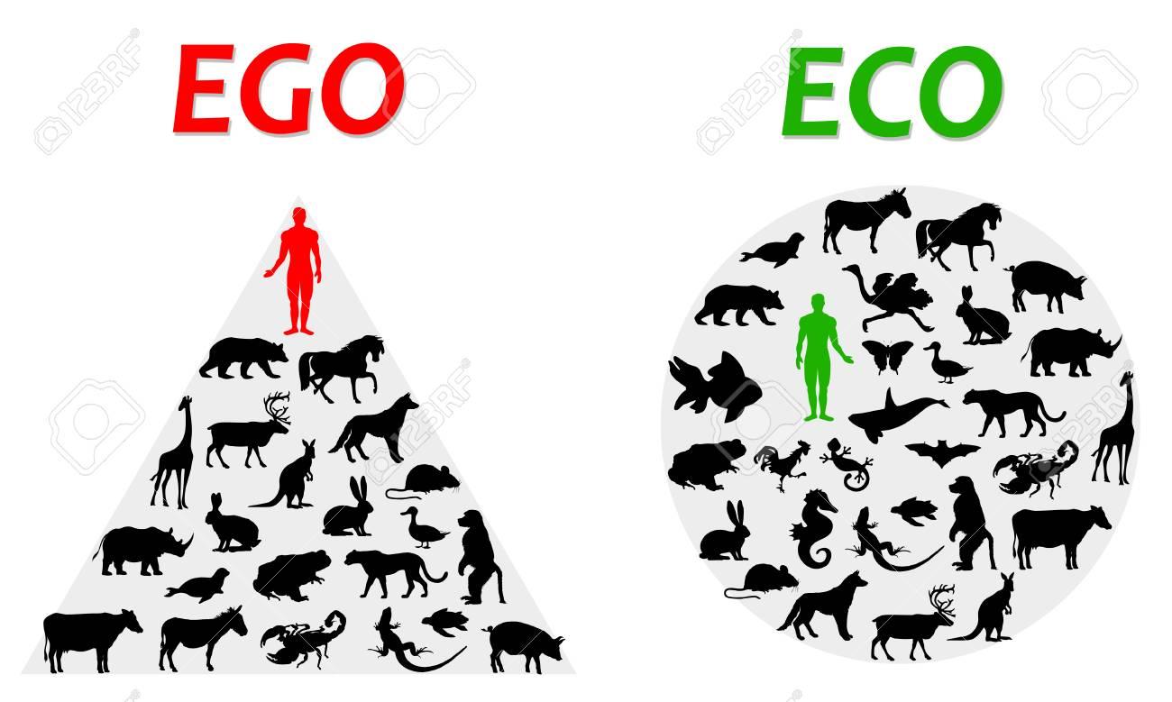 ego and eco illustration - 111708228