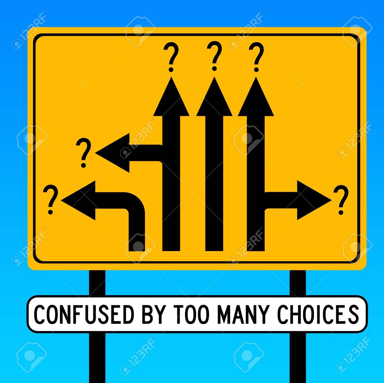 too many choices illustration - 117045391