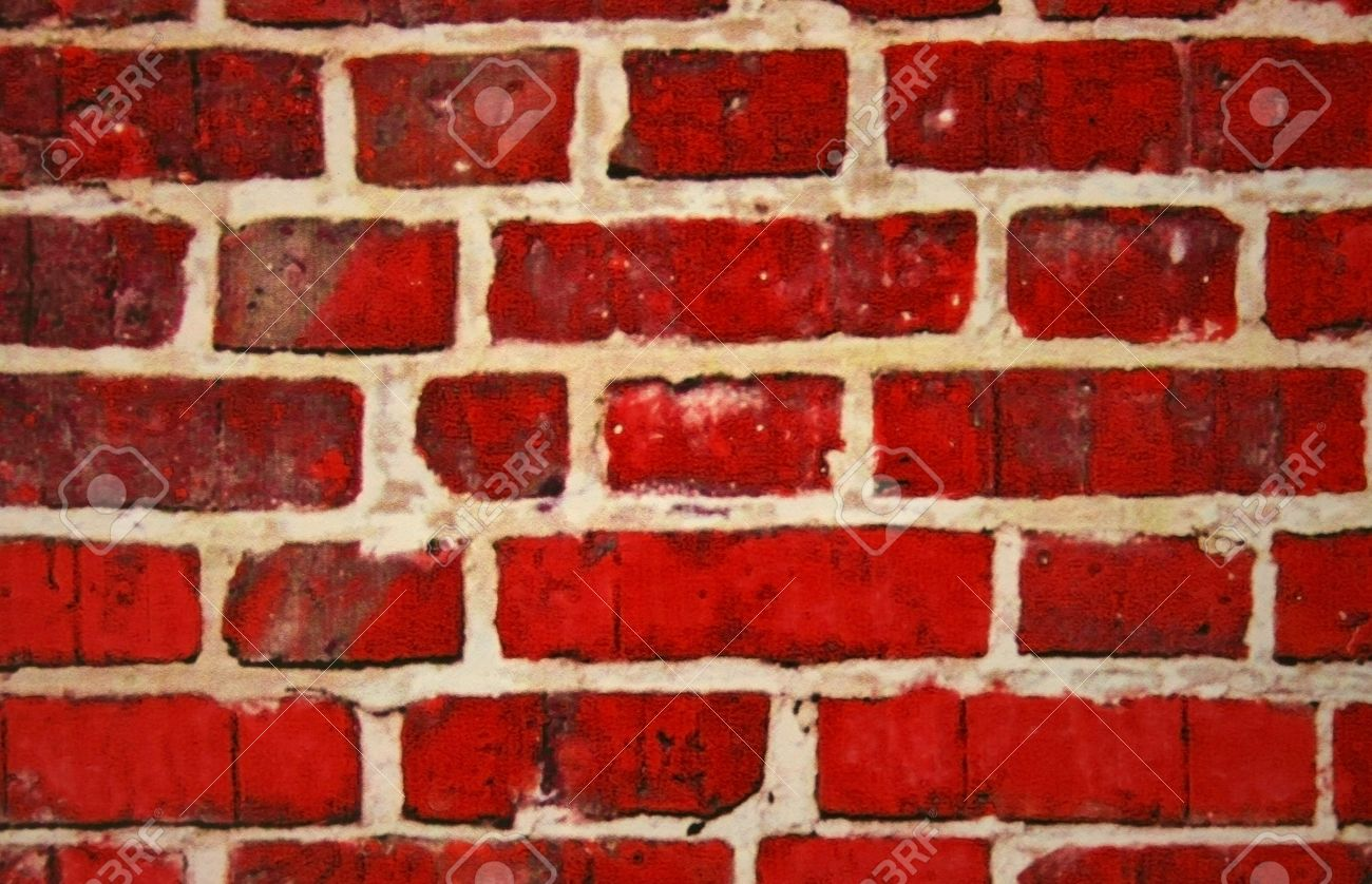 Red Brick Wall Painting