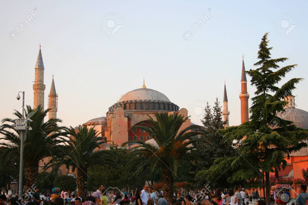 Istanbul,Turkey-July 25,2013 Hagia Sophia Museum Stock Photo - 21238637