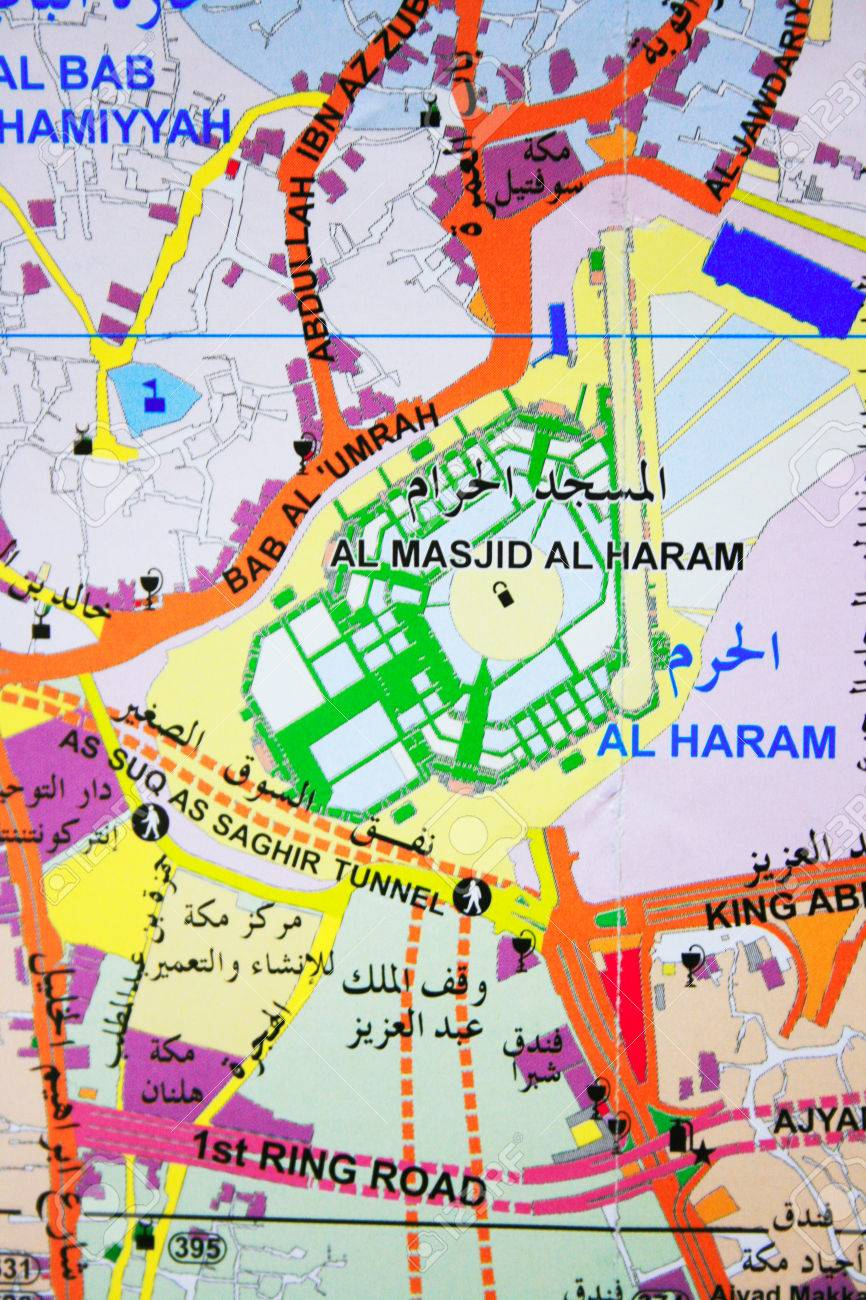 Mecca map and Masjidil Haram on Map