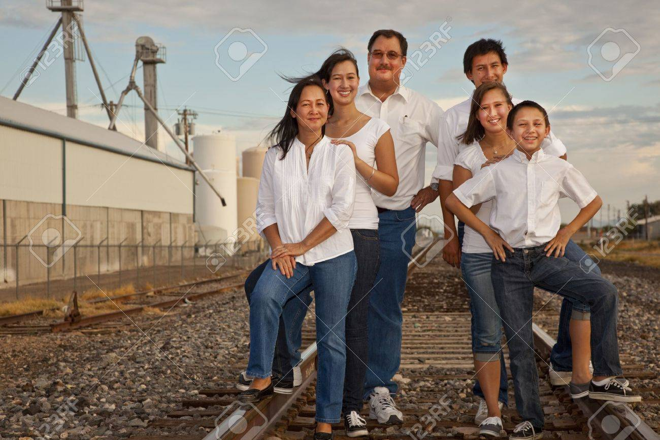 Multicultural Family Portrait Stock Photo - 11701307