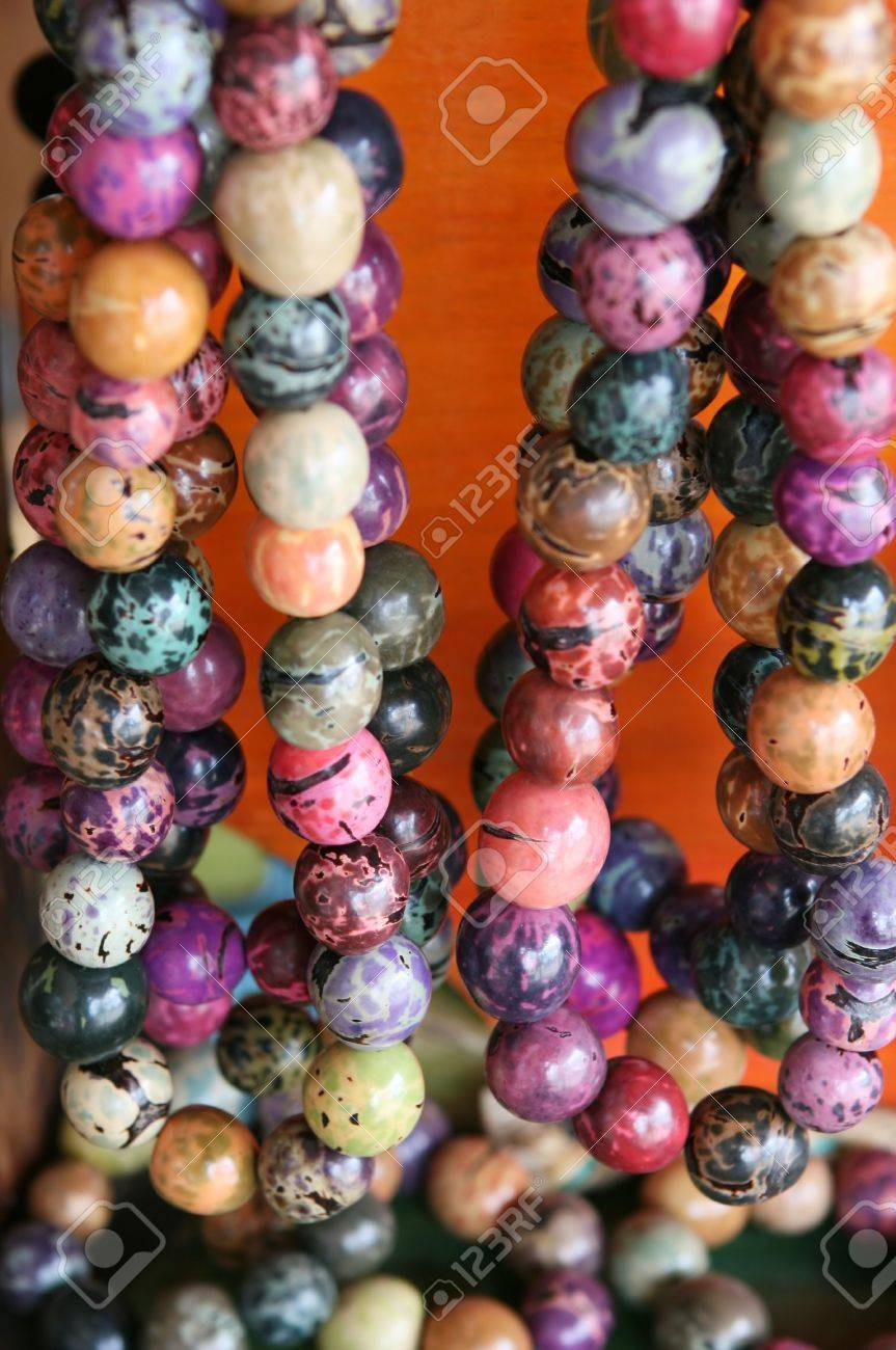 Colorful Bead Necklace Colorful Beaded Necklaces