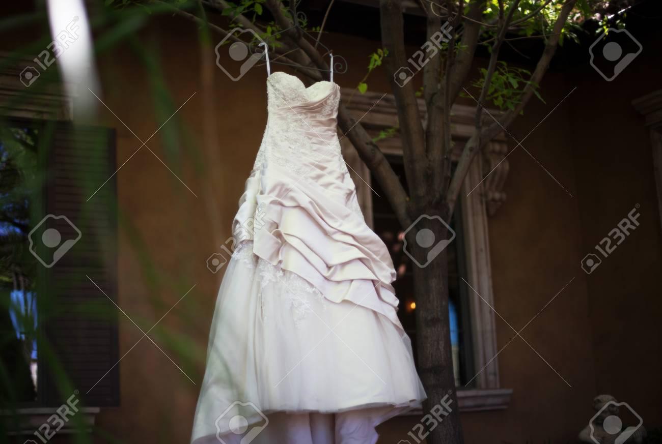Vestido De Novia Moderna De Una Novia Americana En Su Dia De La Boda - Novia-moderna
