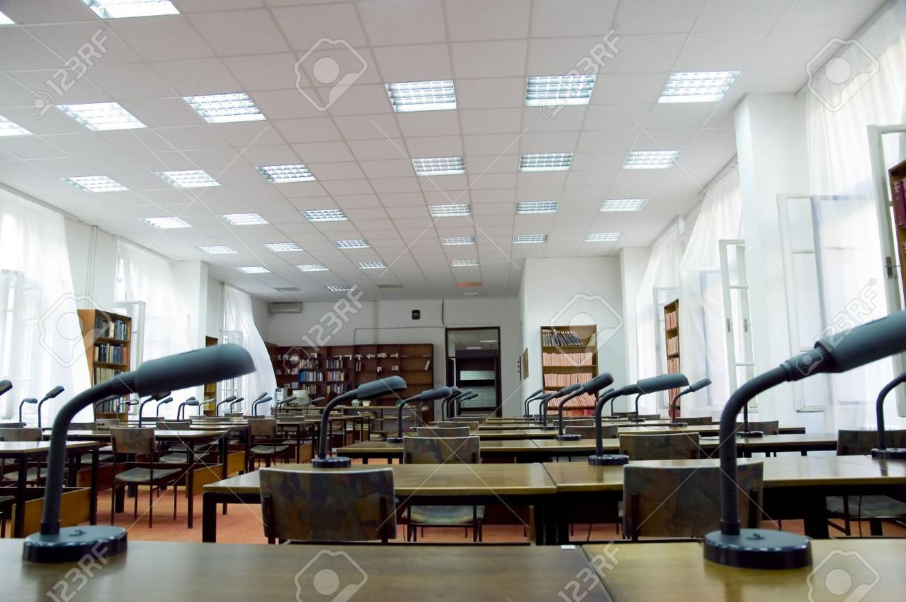 Reading room in library Stock Photo - 2170449