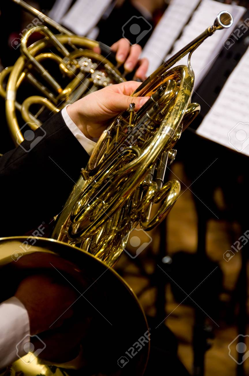 Horn player Stock Photo - 3179454
