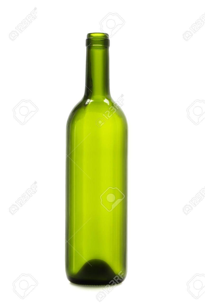 Wonderful Bouteille De Vin Vide #2: Banque Du0027images - Bouteille De Vin Vide Sur Fond Blanc