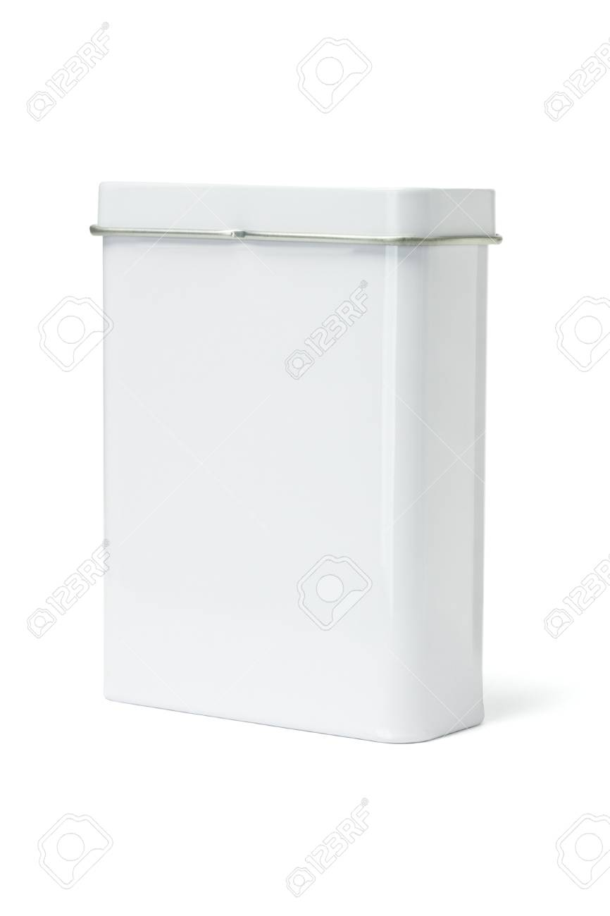 Blank Metal Container standing on White Background Stock Photo - 14094277
