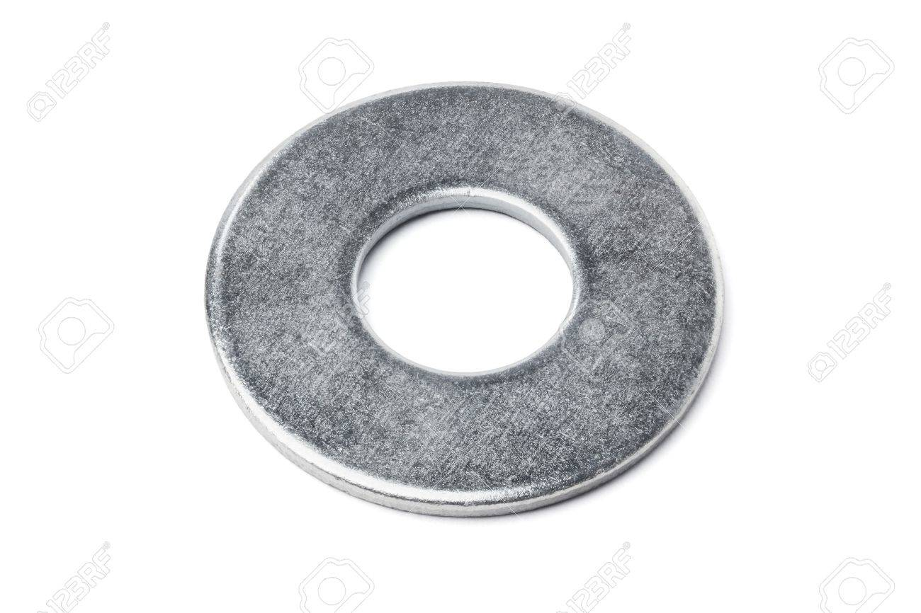 Metal Washer On White Background Stock Photo Picture And Royalty Free Image Image 21539616