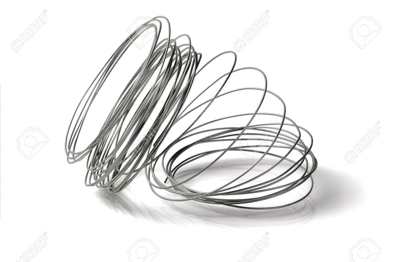 Loose Coil Of Wire On White Background Stock Photo, Picture And ...