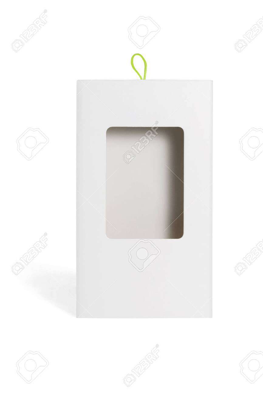 Carboard Package Box with Plastic Window on White Background - 146622217