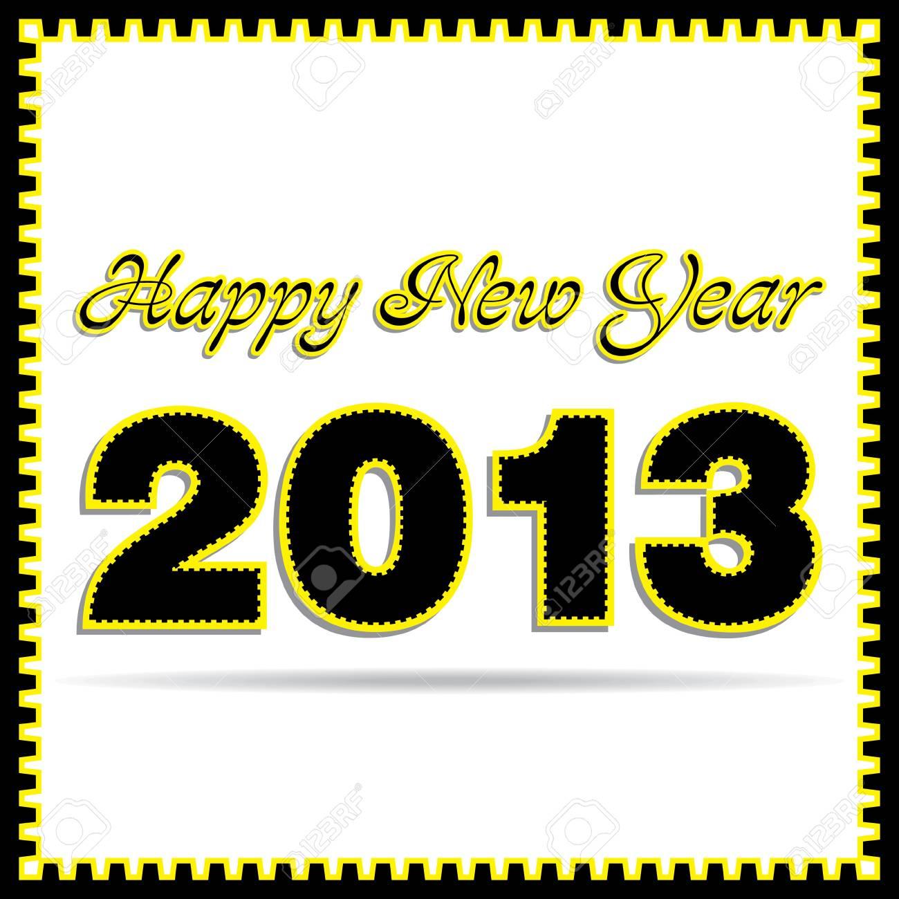 new year 2013 stock vector Stock Vector - 16845611