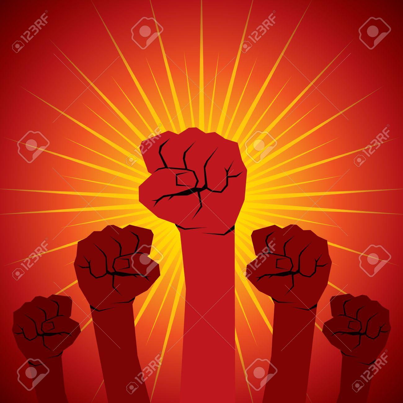 hand show the unity hand power stock vector Stock Vector - 16845573