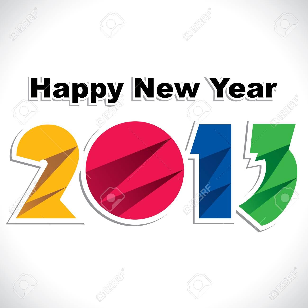 creative writing of new year 2013 Stock Vector - 16845726