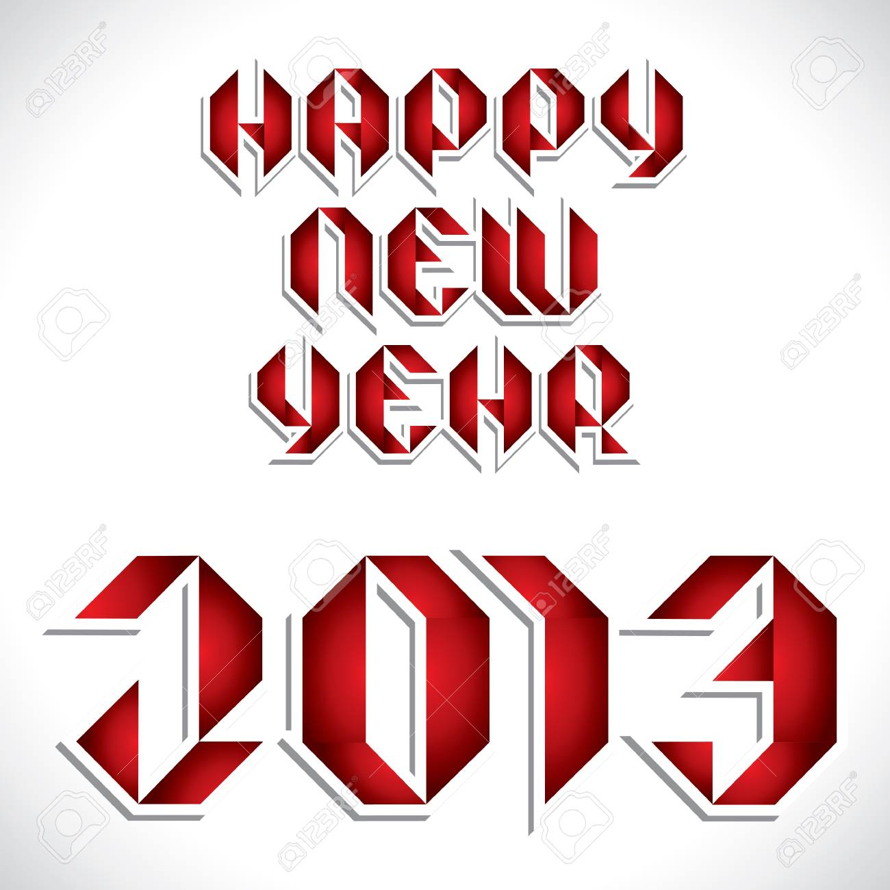 red new year 2013 greeting stock vector Stock Vector - 16845837