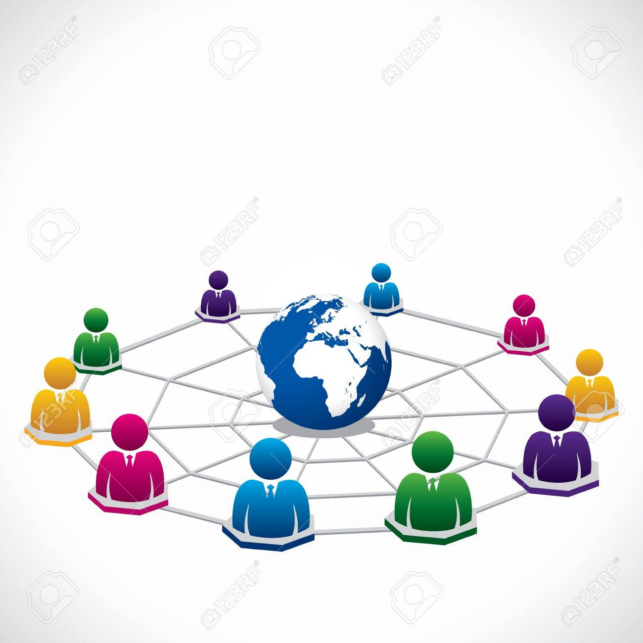 global connection around the world to people Stock Vector - 16845809