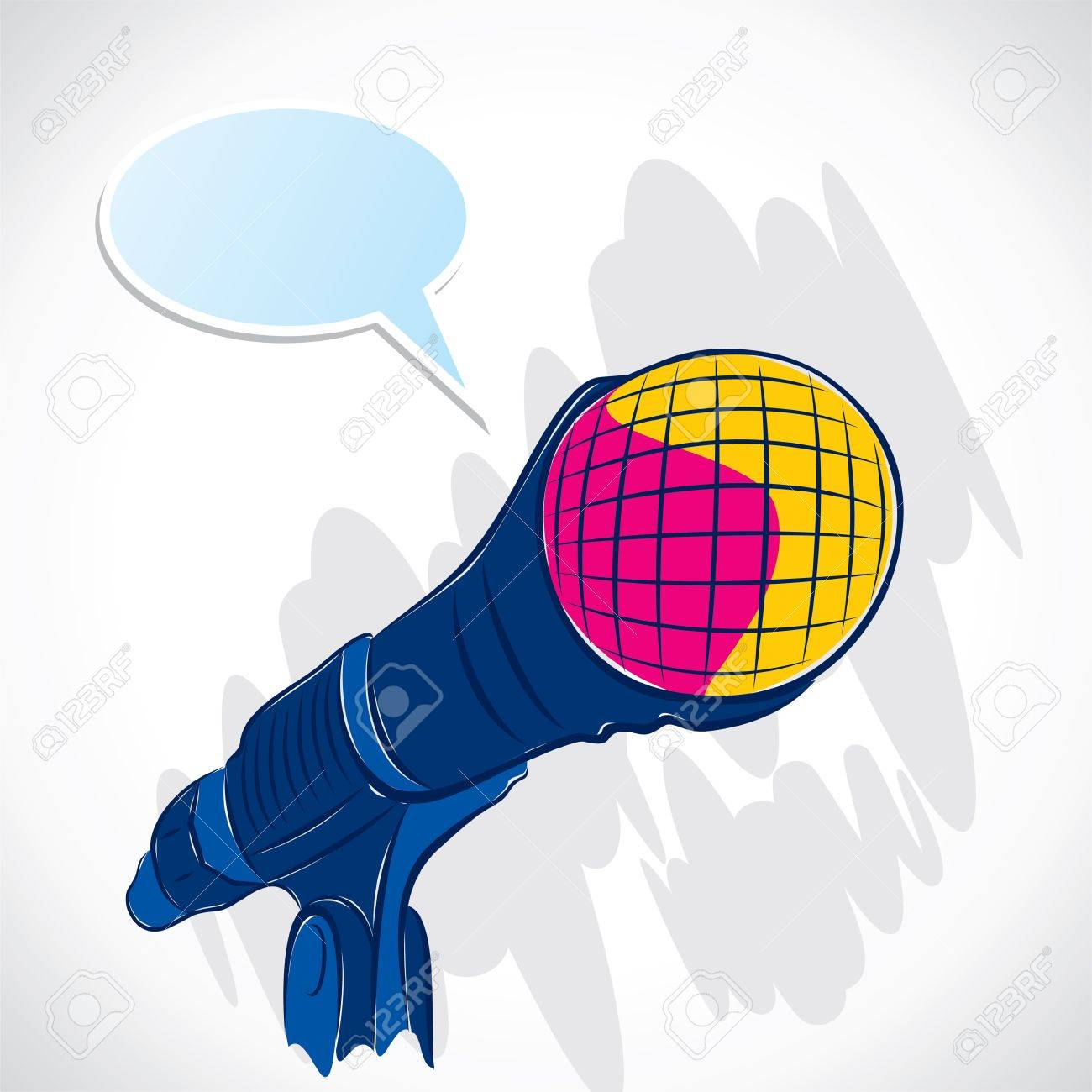 colorful microphone stock Stock Vector - 16904530