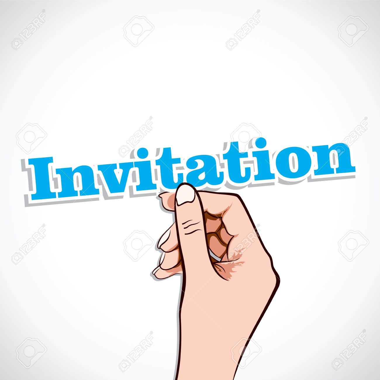 Invitation Word In Hand Stock Vector Royalty Free Cliparts ...