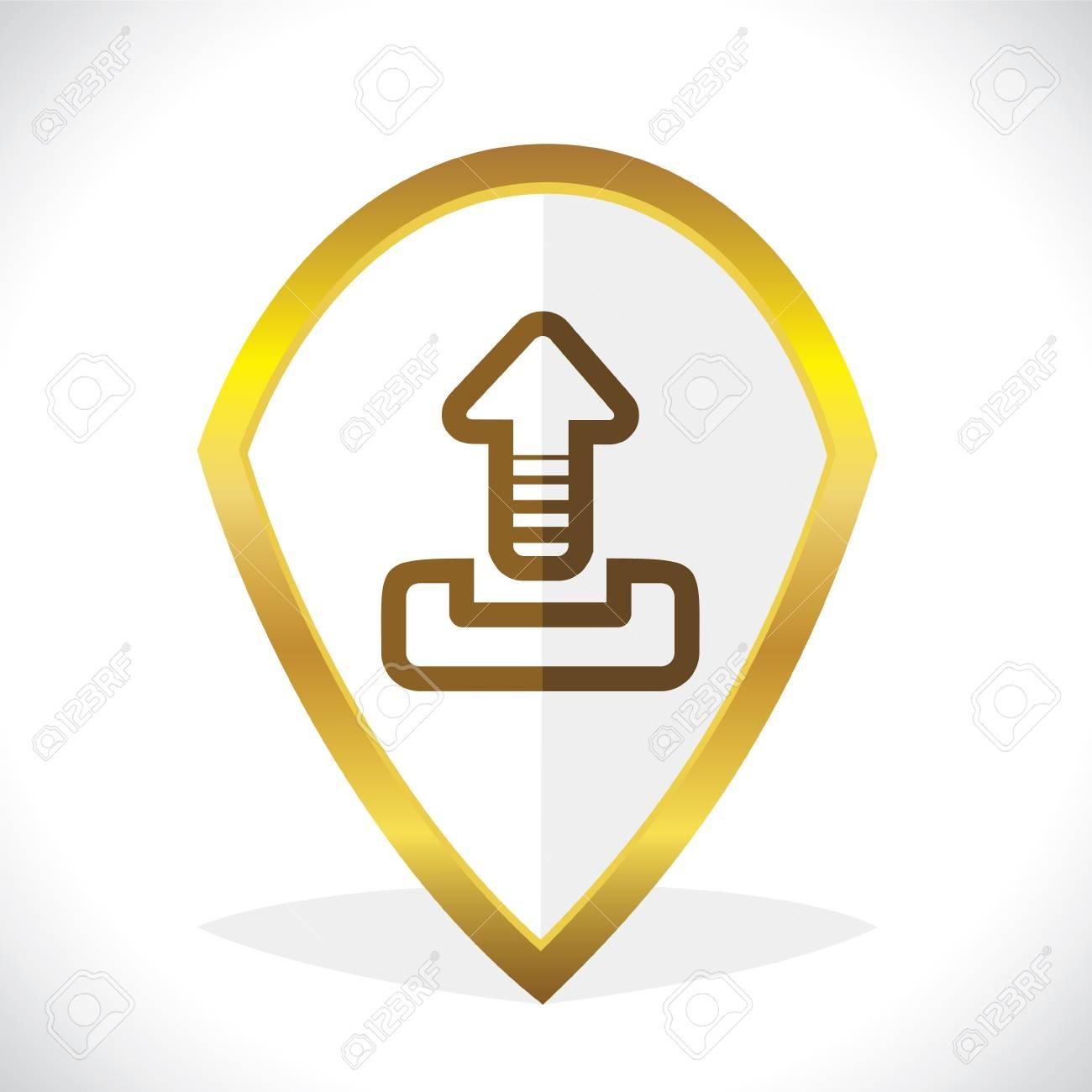 Uploading Icon Design Stock Vector Stock Vector - 17216234