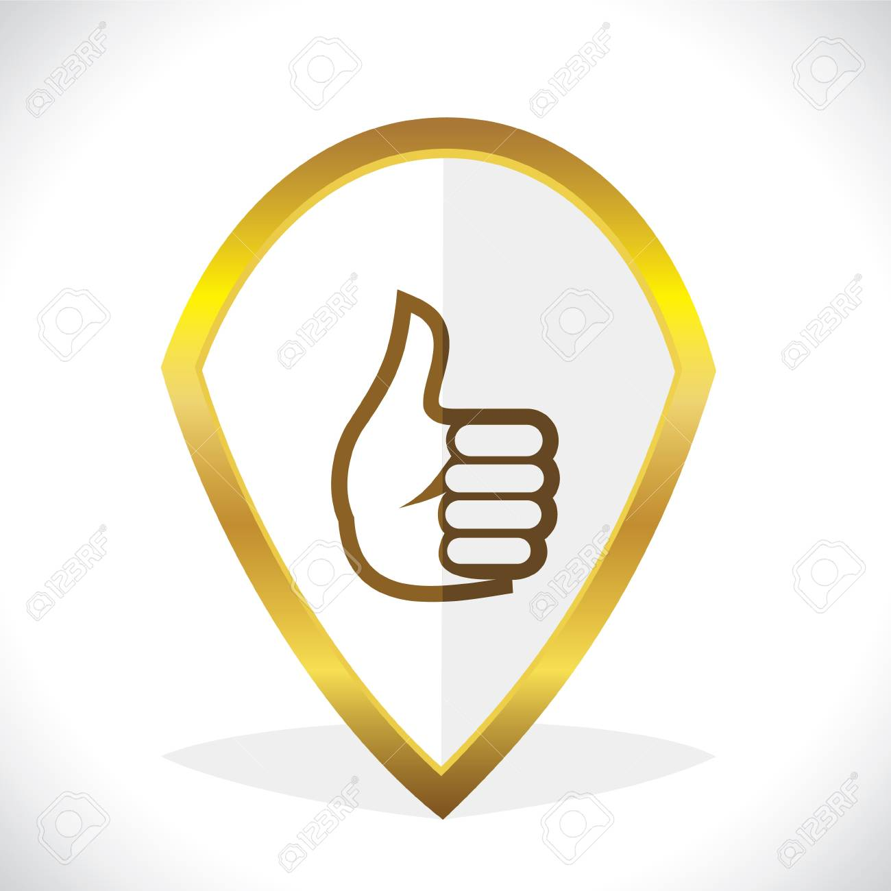Thumbs-Up  Like Icon Design Stock Vector Stock Vector - 17215713