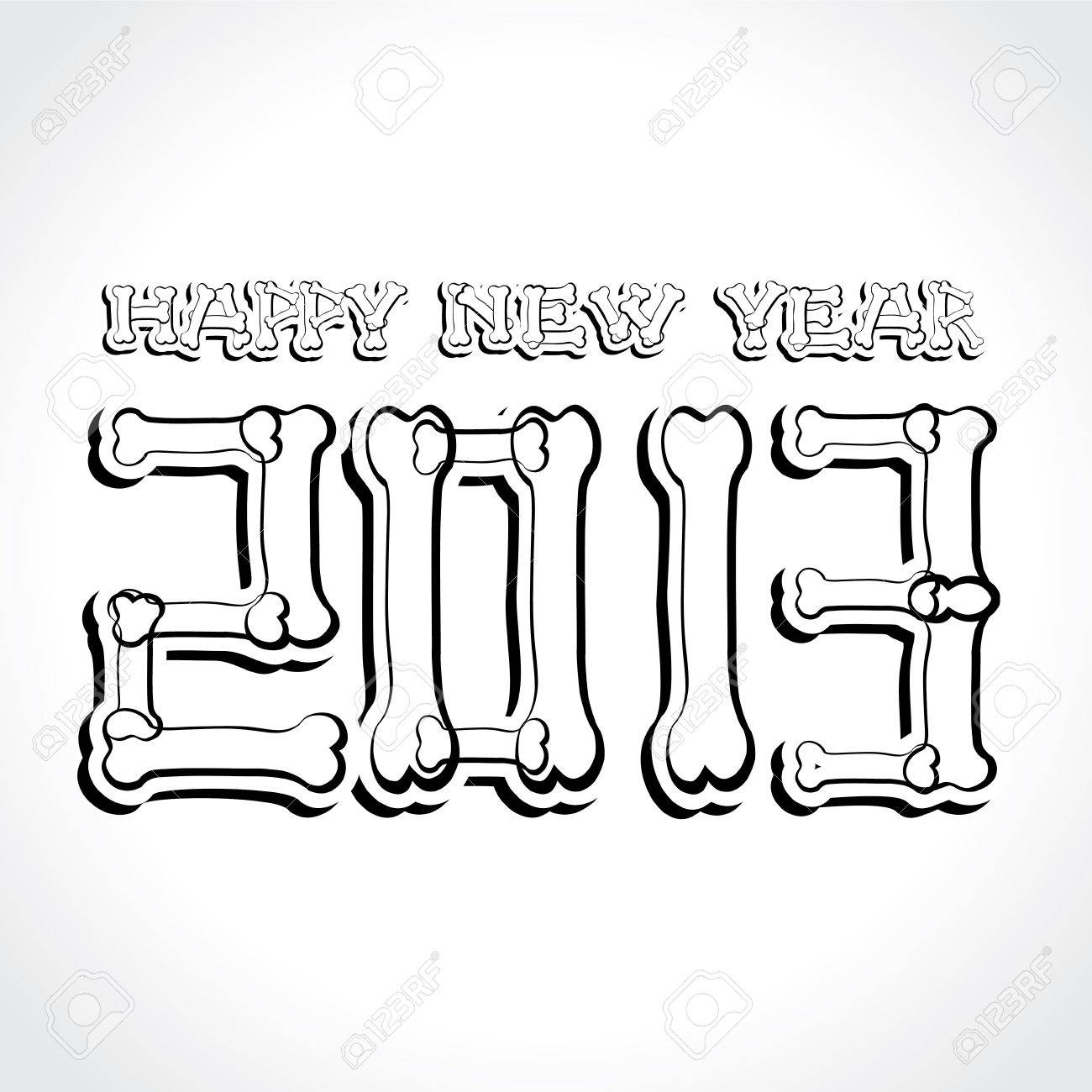 New Year Greeting,2013 Stock Vector - 17215062