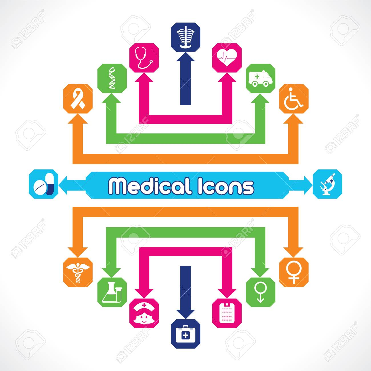 Set of Medical Icons Stock Vector - 17214555