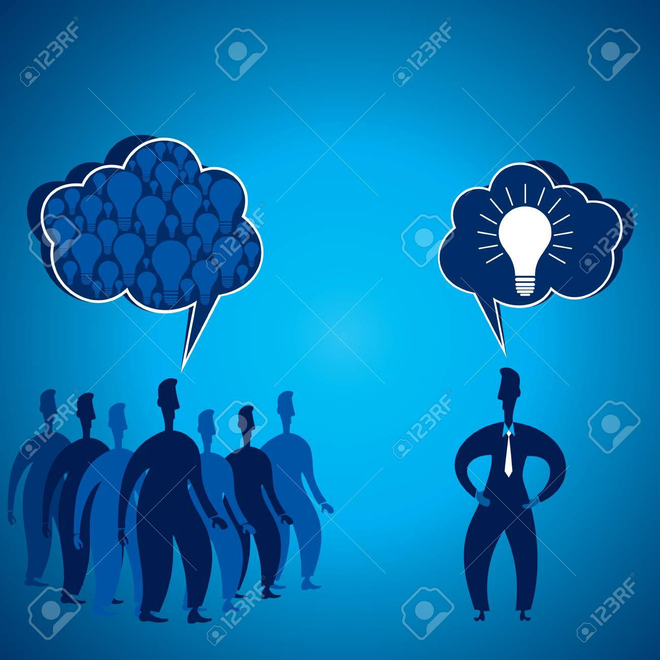 leadership oncept stock vector Stock Vector - 17108348