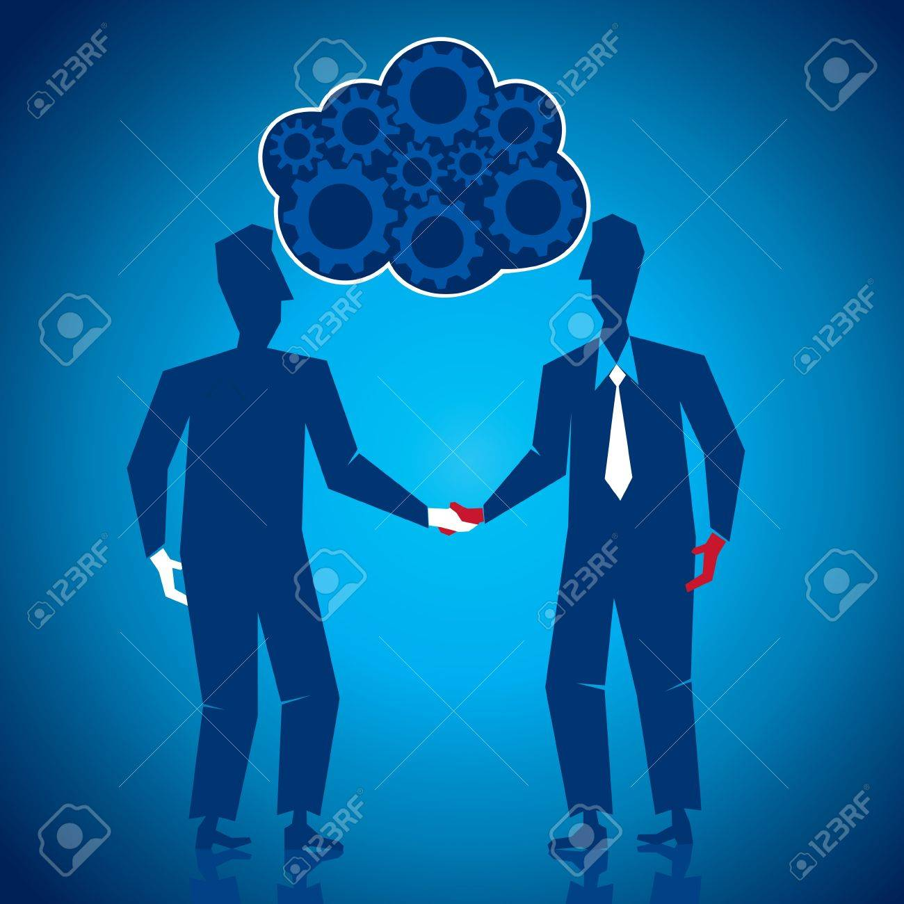 both businessmen shake hand s Stock Vector - 17108337