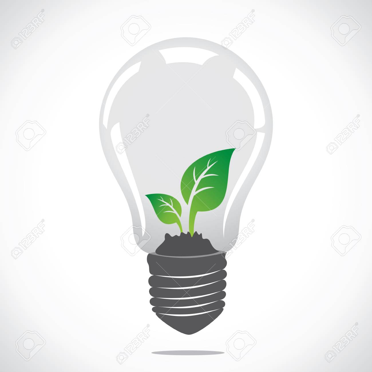 small plant in bulb stock vector Stock Vector - 17108210