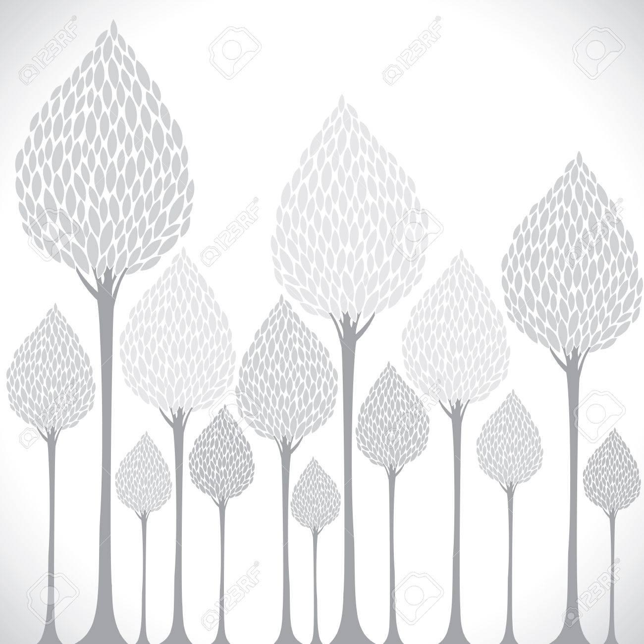 creative grey tree background Stock Vector - 17762947