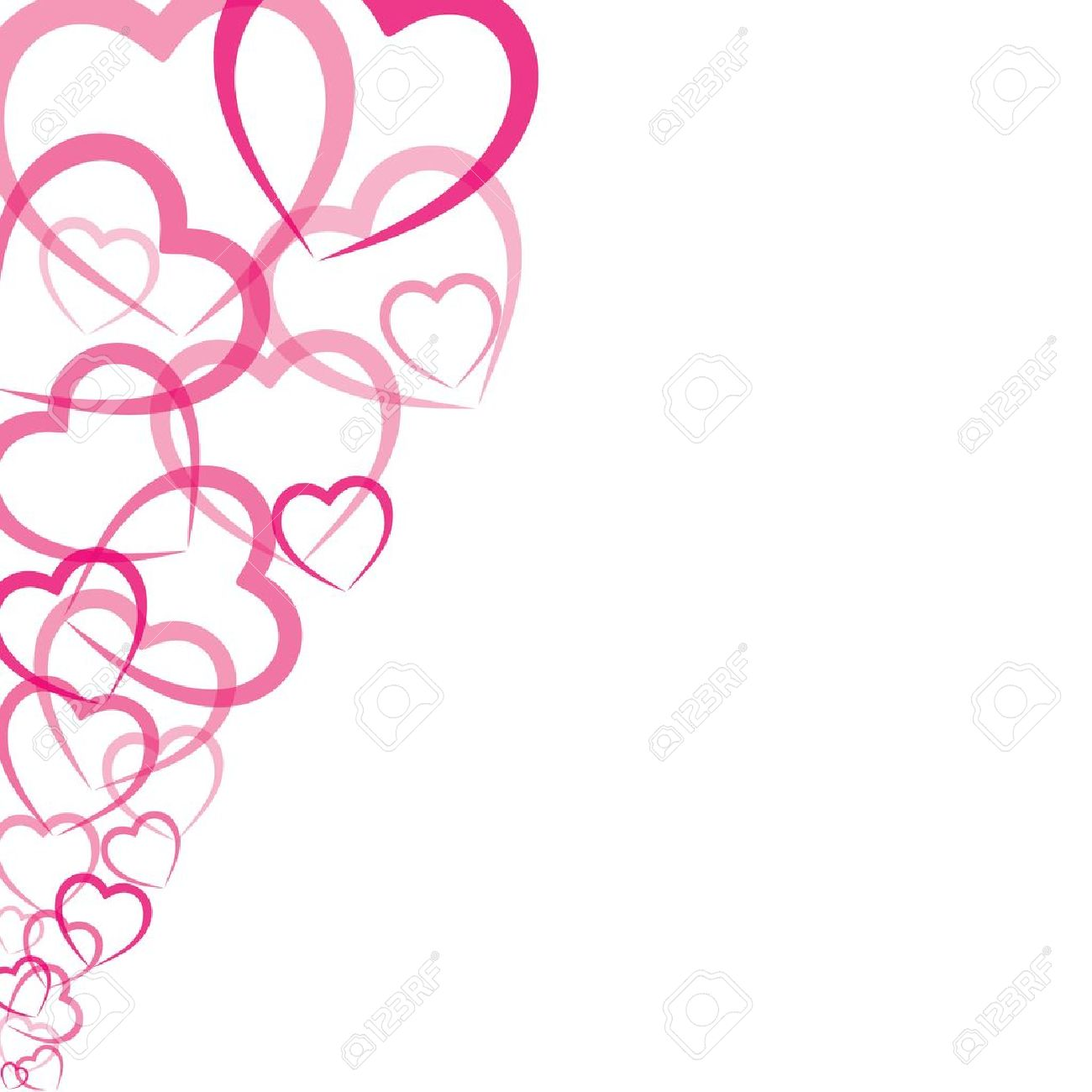 pink heart greeting card stock vector Stock Vector - 17763199