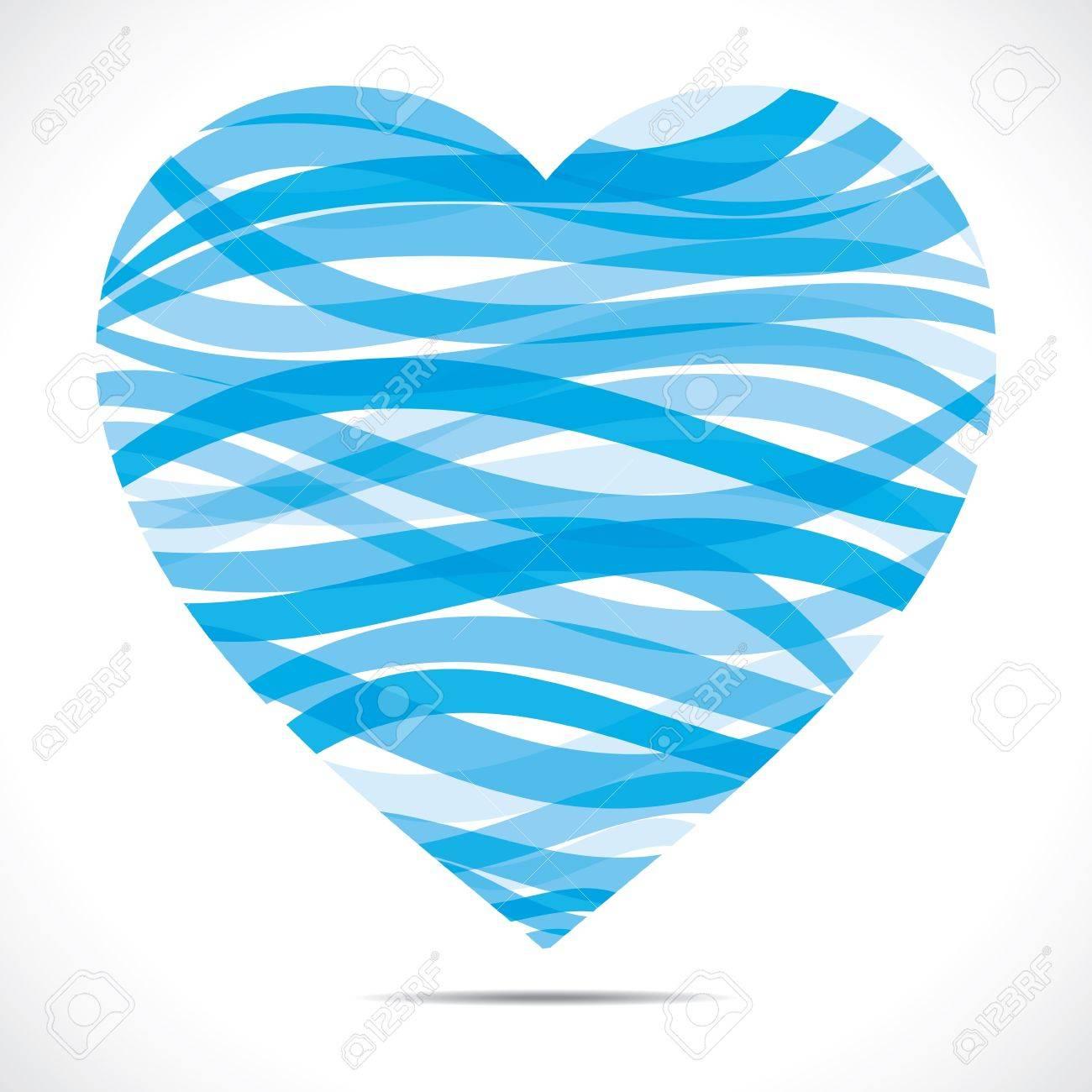 blue strip heart shape Stock Vector - 17762952