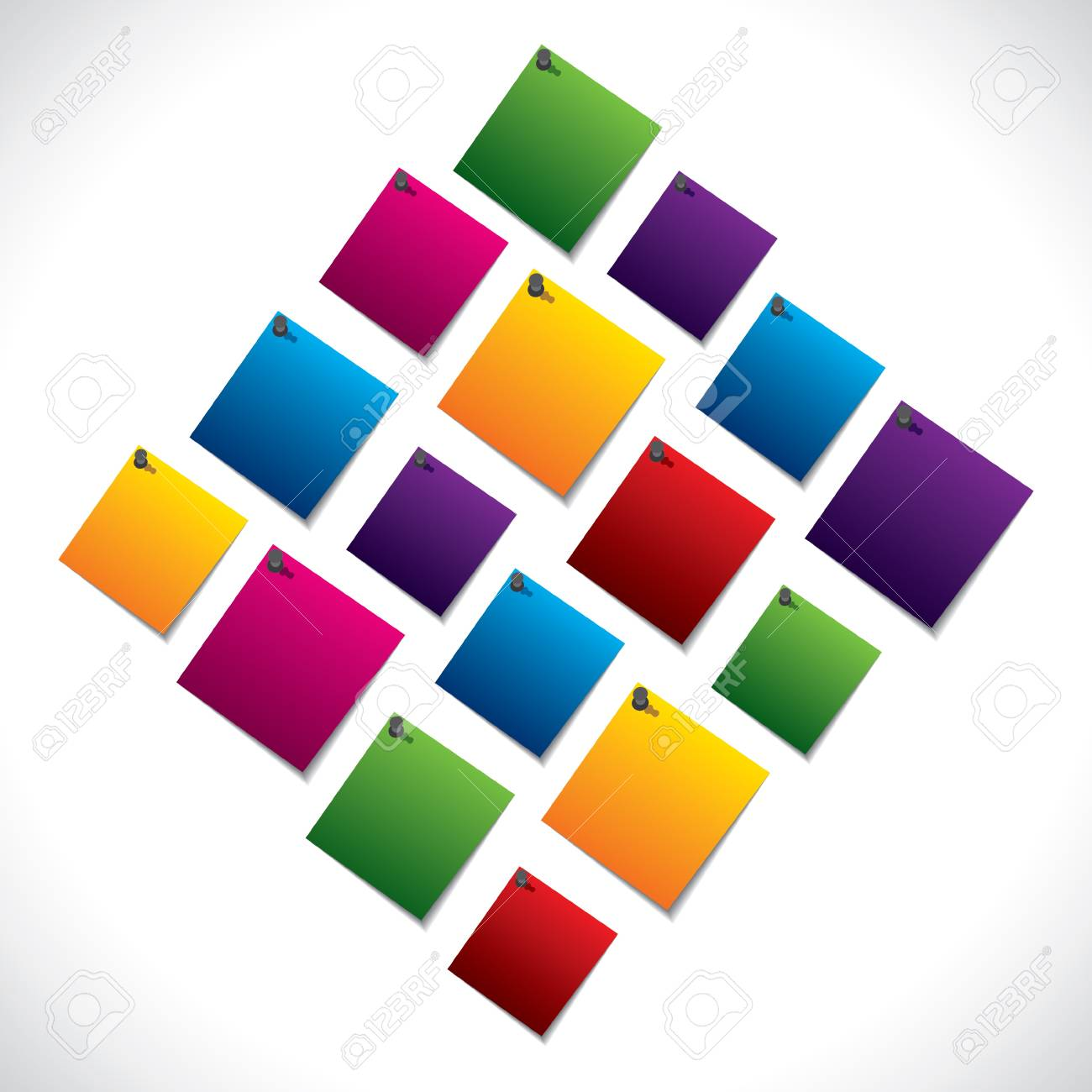colorful paper note stock vector Stock Vector - 17763374