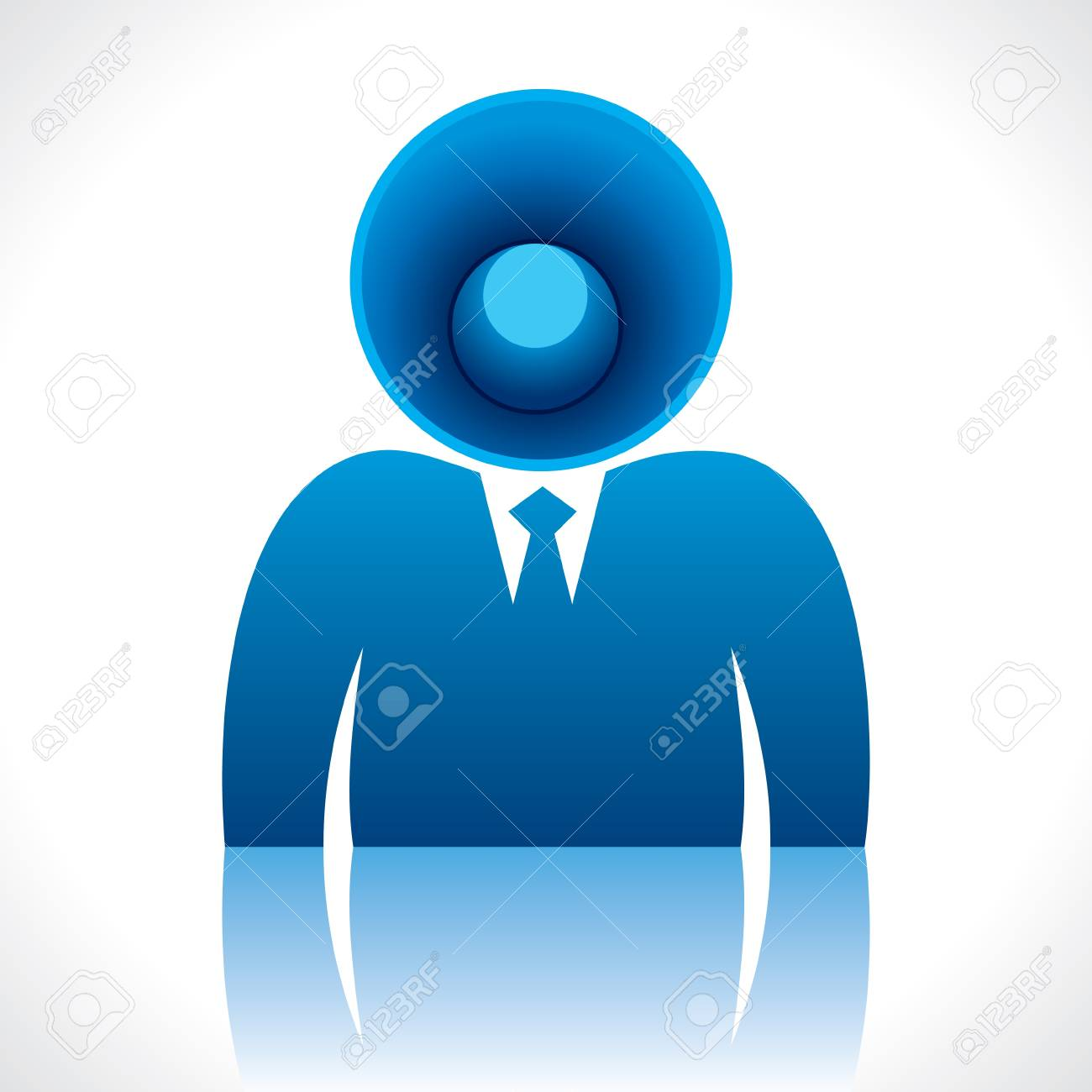 speaker head of businessmen Stock Vector - 17763047