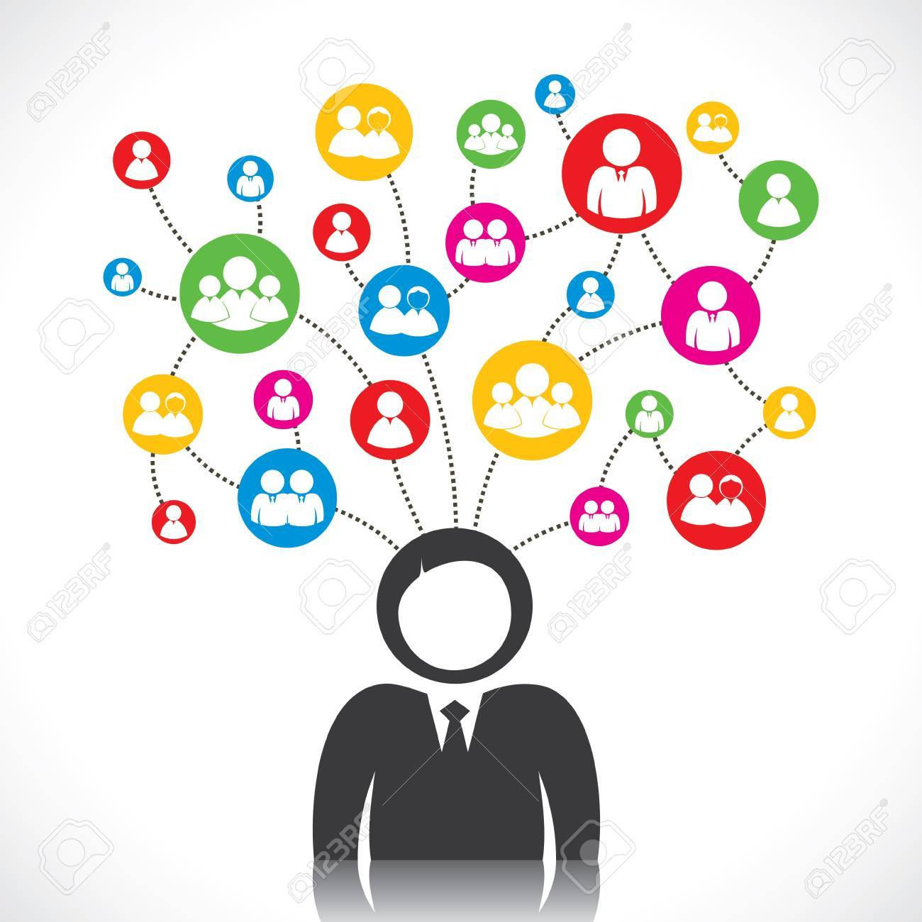 social network of people stock vector Stock Vector - 17763086