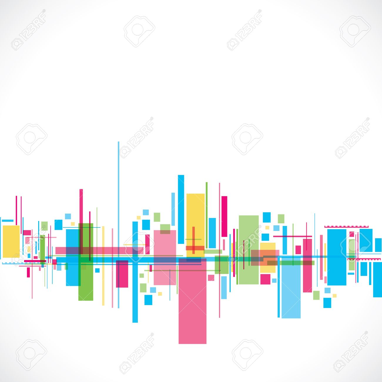 colorful abstract city stock vector royalty free cliparts vectors