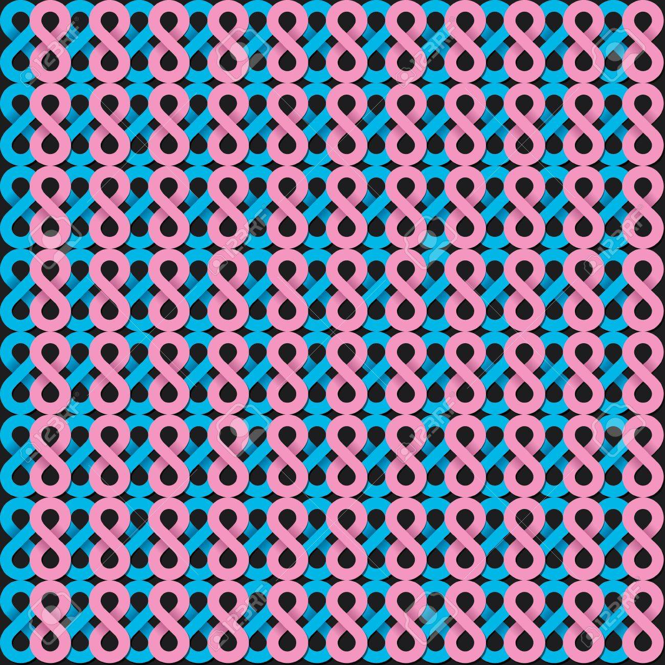 infinity shape pink and blue pattern Stock Vector - 18332355
