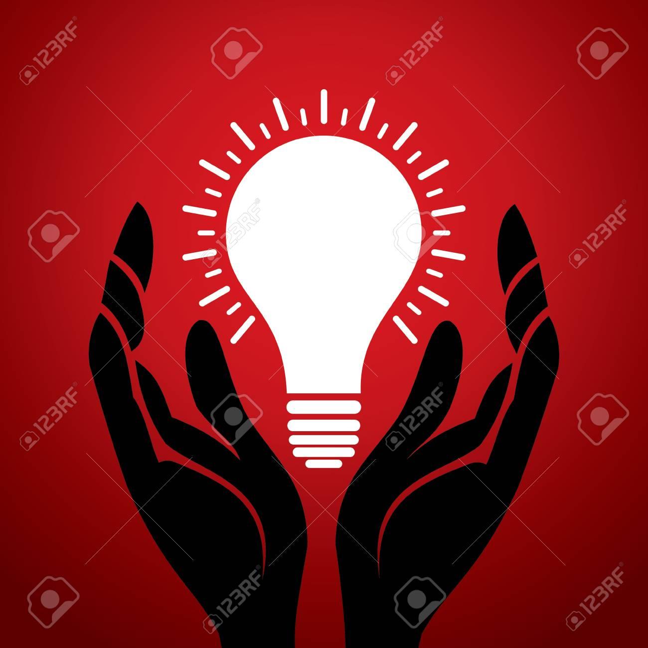 bulb in hand Stock Vector - 18332326