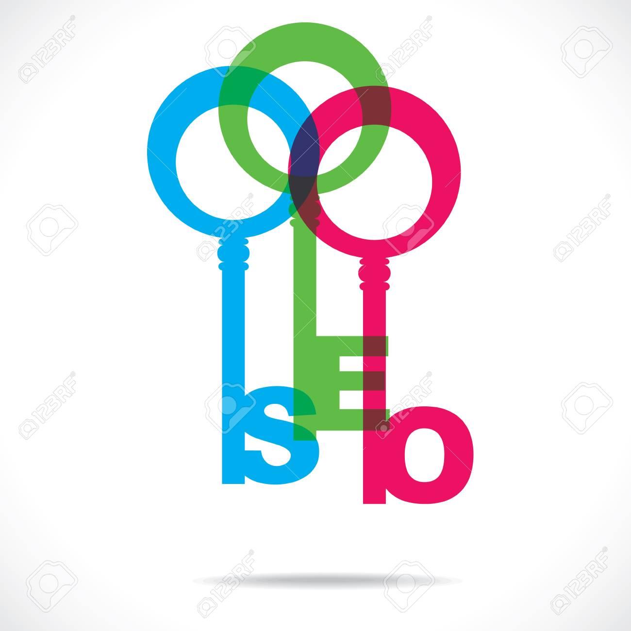 color SEO word key stock Stock Vector - 18785451