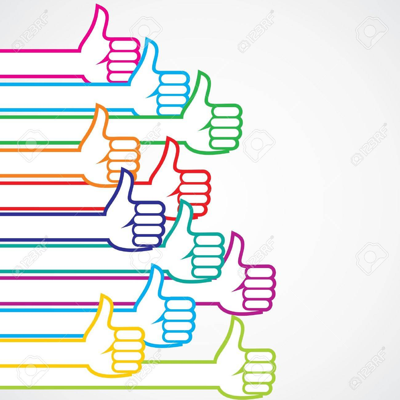 Colorful like or thumbs-up sign background  stock vector Stock Vector - 18785547