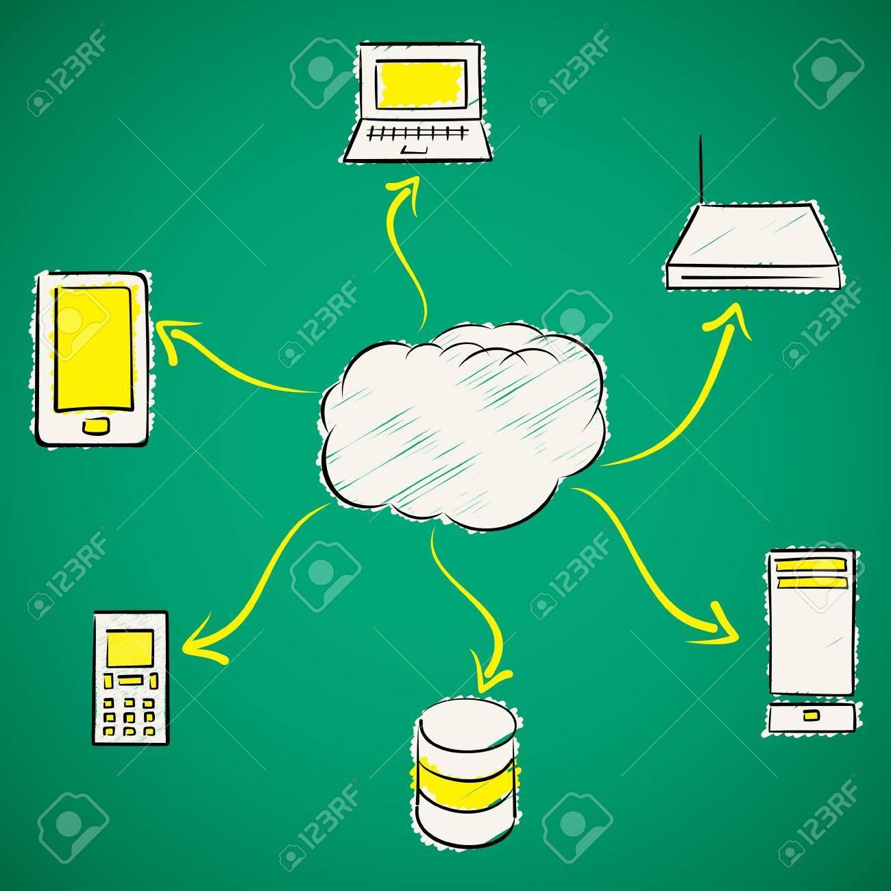 cloud computing concept stock vector Stock Vector - 18904913