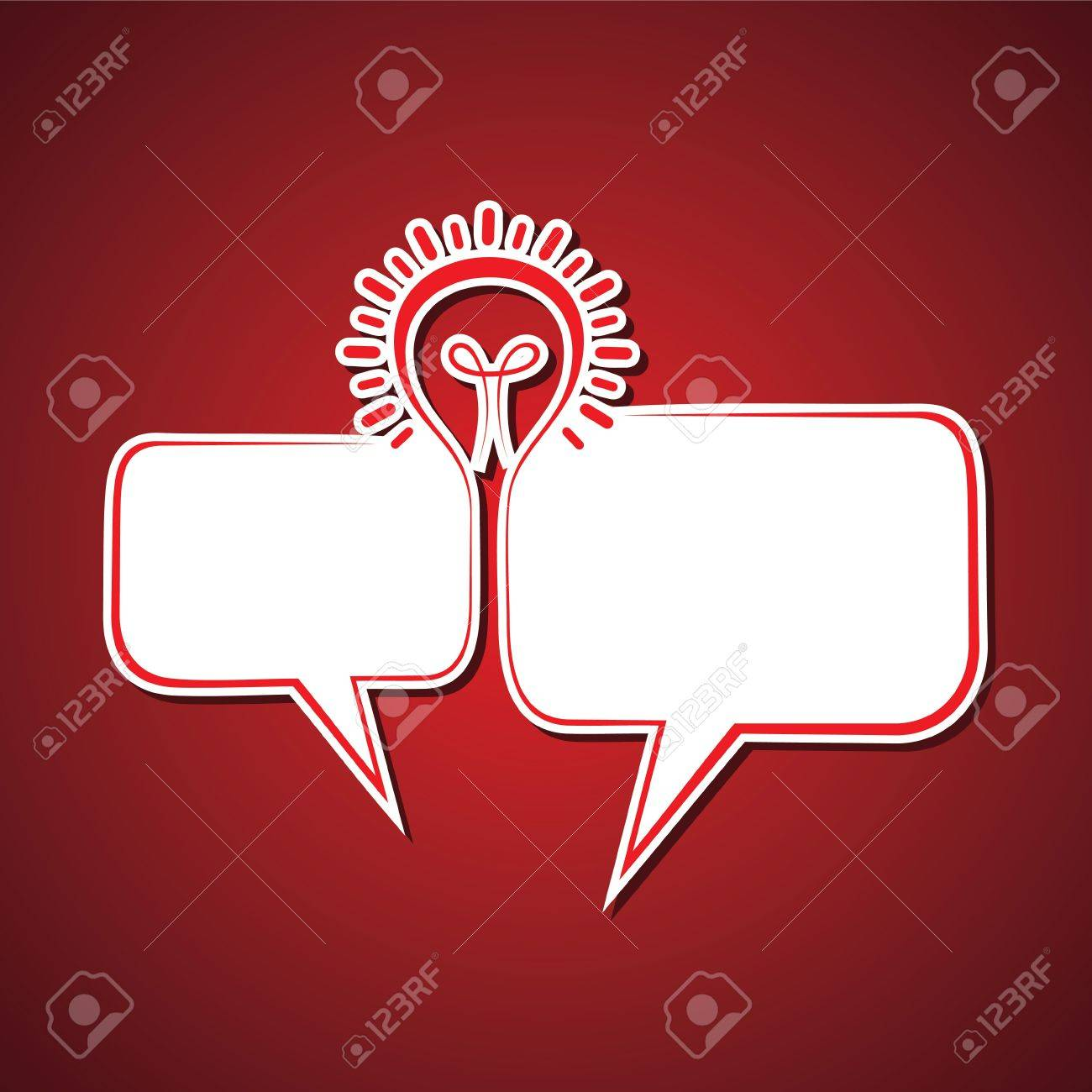 message bubble make a bulb stock vector Stock Vector - 18904908