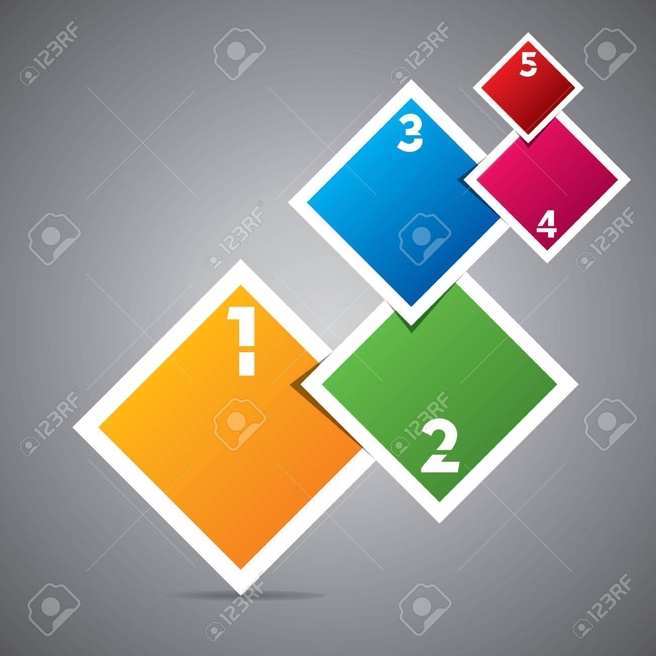 colorful square infographics stock vector Stock Vector - 18904945