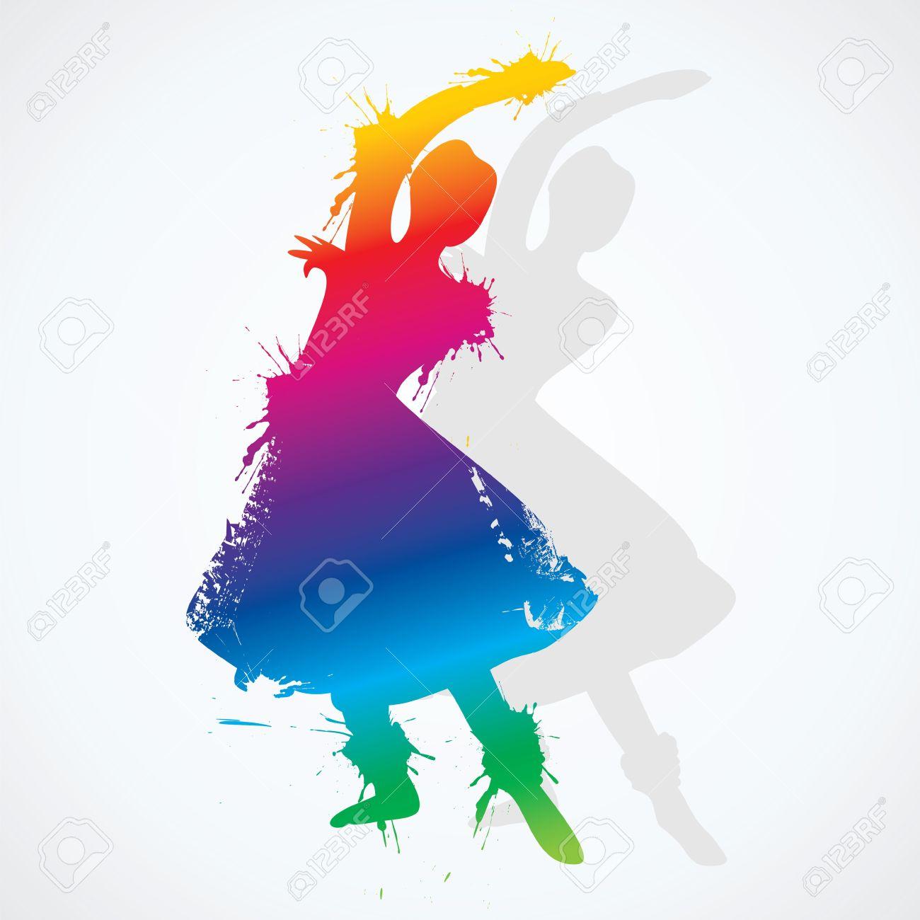 Kathak Dance Drawing Indian Classical Dancer