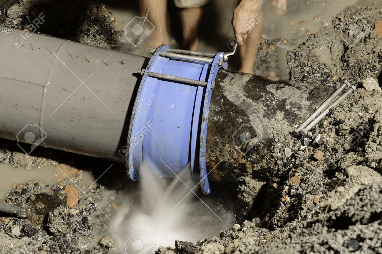cast iron water pipe fix 400 mm diameter Stock Photo - 36243188 & Cast Iron Water Pipe Fix 400 Mm Diameter Stock Photo Picture And ...
