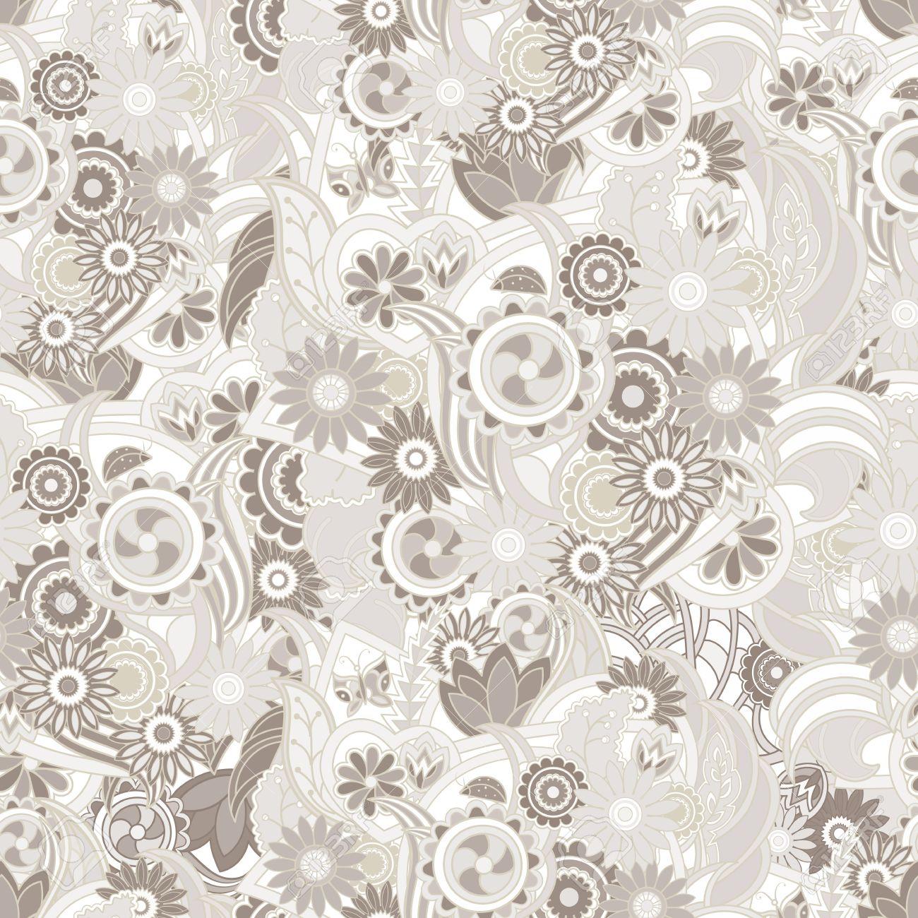 floral pastell hellbraunen hintergrund. nahtlose textur mit blumen