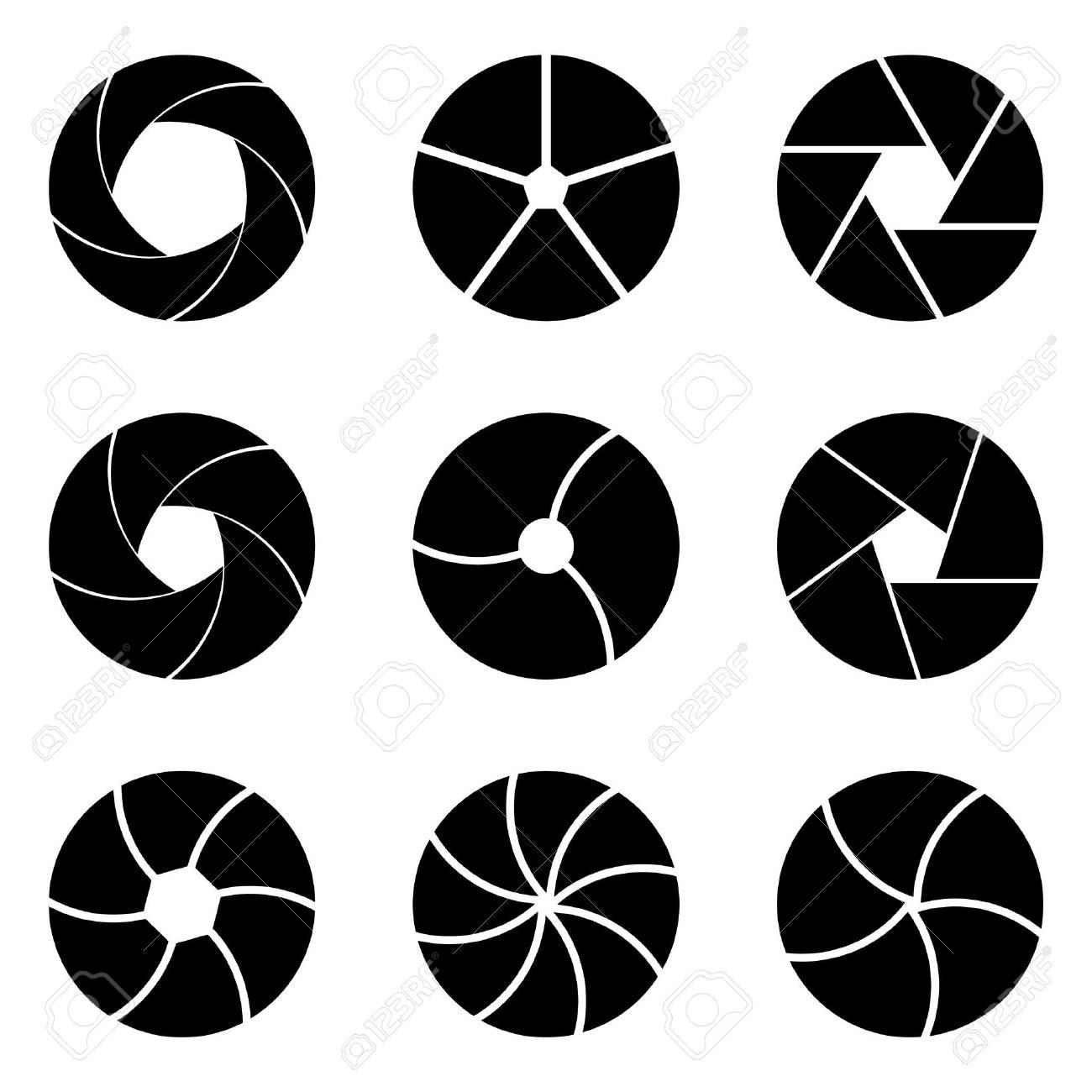 Diafragma Set En El Vector. Parte Del Objetivo Aislar Sobre Fondo ...