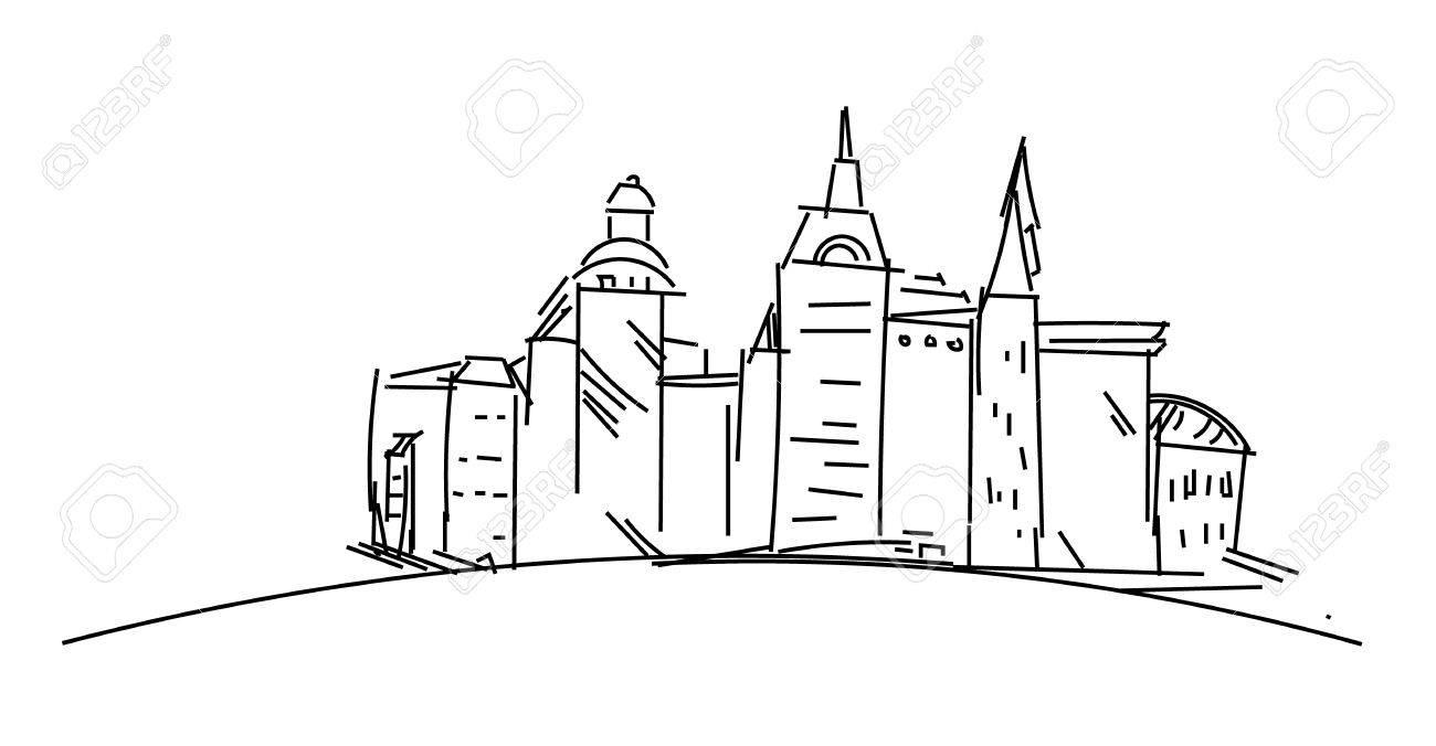 Buildings In City Sketchup Houses And Buildings Minimalism