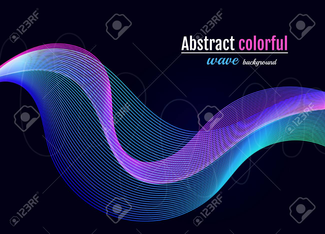 abstract colorful wave background moving colorful lines on the